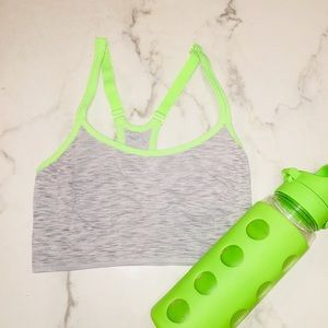 Old Navy gray and neon green sports bra  SMALL